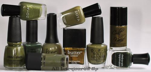 fall 2011 nail polish trend military green nail color