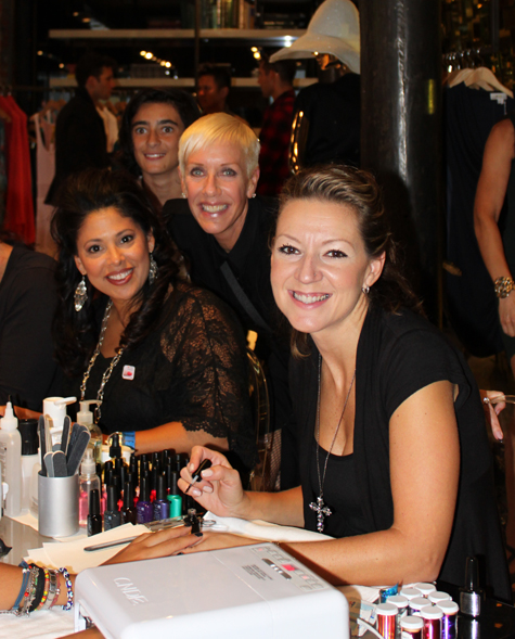 fashions night out cnd malandrino shellac jan arnold Fashions Night Out 2011 with CND and Essie