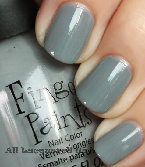 fingerpaints stunning stilettos nail polish swatch fall 2011 nail trend Fall 2011 Nail Polish Trend   Real F*cking Grey Is Back!