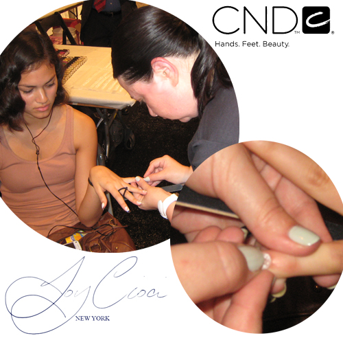 joy cioci backstage cnd nyfw mbfw Behind The Scenes   My Chance to Assist Team CND at Joy Cioci