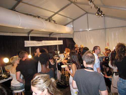 joy cioci backstage nyfw mbfw spring 2012 Behind The Scenes   My Chance to Assist Team CND at Joy Cioci