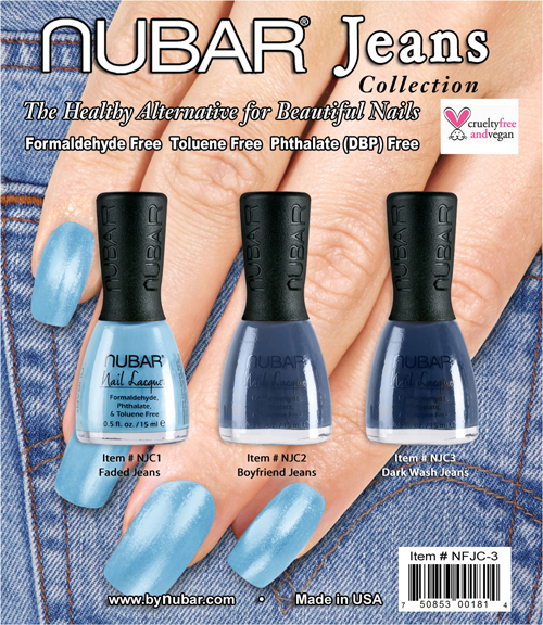 nubar jeans collection nail polish bottles Nubar Jeans Collection Preview