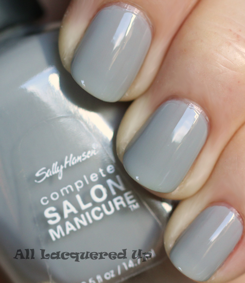 sally hansen dorien grey nail polish swatch fall 2011 nail trend Fall 2011 Nail Polish Trend   Real F*cking Grey Is Back!