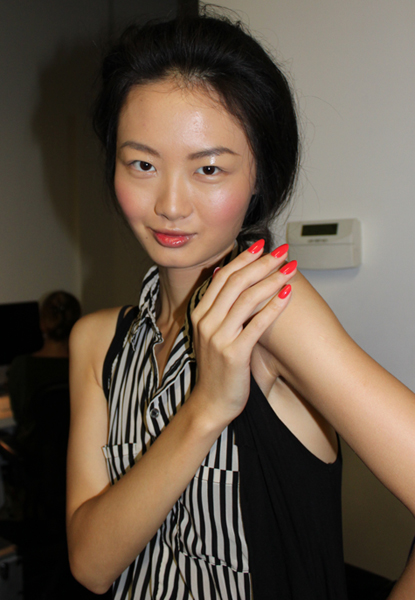 wes-gordon-spring-2012-maybelline-cnd-bumble