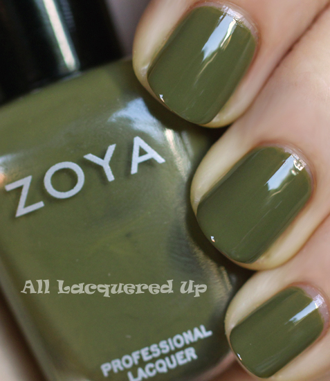 zoya dree nail polish swatch fall 2011 military green trend