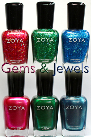 zoya gems & jewels holiday 2011 nail polish collection swatch review