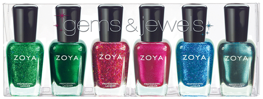 zoya gems jewels nail polish collection holiday 2011