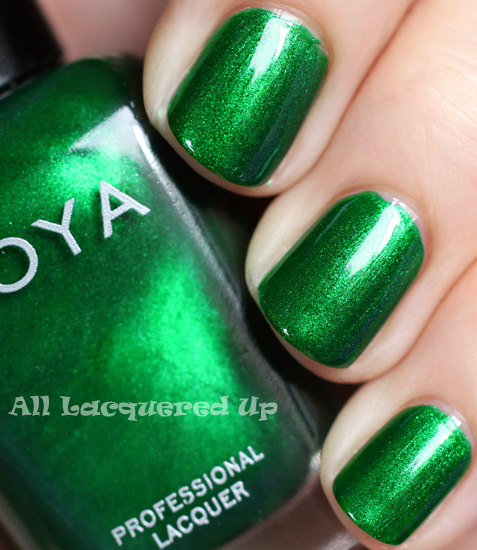 zoya holly nail polish swatch gems jewels holiday 2011 Zoya Gems & Jewels Holiday 2011 Nail Polish Collection Swatches & Review