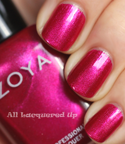 zoya izzy nail polish swatch from the zoya gems & jewels holiday 2011 collection