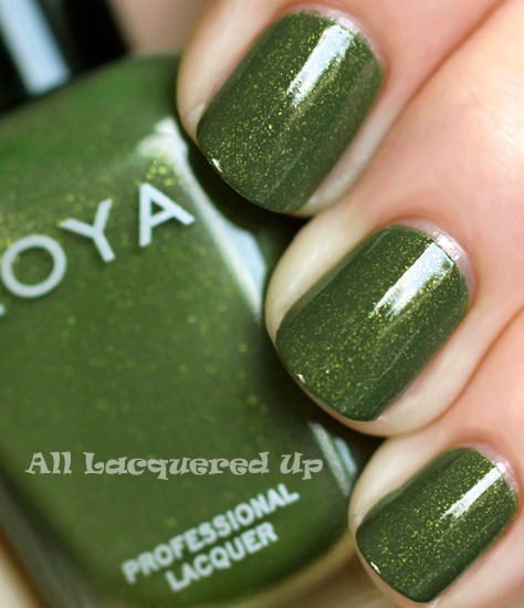 zoya yara nail polish swatch mirrors fall 2011 military green trend