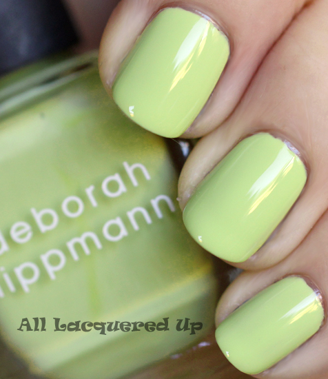 deborah lippmann almost paradise nail polish swatch footloose hsn Deborah Lippmann Cuts Loose, Footloose. The Footloose Nail Polish Collection for HSN