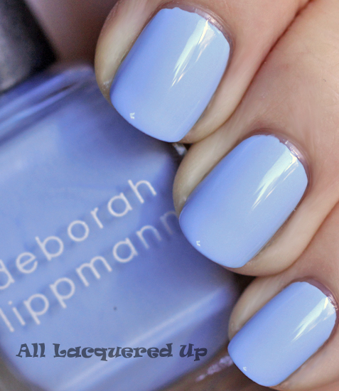deborah lippmann lets hear it for the boy nail polish swatch footloose hsn Deborah Lippmann Cuts Loose, Footloose. The Footloose Nail Polish Collection for HSN