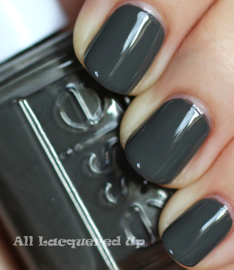 essie power clutch nail polish swatch fall 2011 gray nail trend Fall 2011 Nail Polish Trend   Real F*cking Grey Is Back!