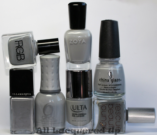 fall 2011 nail polish trend grey gray nail color 2 Fall 2011 Nail Polish Trend   Real F*cking Grey Is Back!