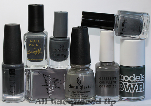 fall 2011 nail polish trend grey gray nail color Fall 2011 Nail Polish Trend   Real F*cking Grey Is Back!