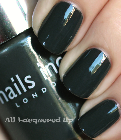 nails inc paddington nail polish swatch fall 2011 nail trend Fall 2011 Nail Polish Trend   Real F*cking Grey Is Back!