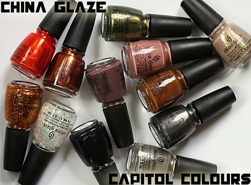 china glaze capitol colours hunger games nail polish collection China Glaze Capitol Colours   Quick & Dirty Hunger Games Preview