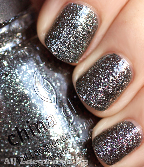 china glaze tinsel town nail polish swatch holiday 2011 let snow Back on track. FINALLY!