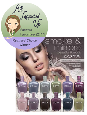 alu fanatic favorite 2011 collection zoya smoke mirrors All Lacquered Up Fanatic Favorites 2011   The Winners