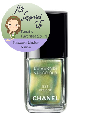 alu fanatic favorite 2011 nail polish chanel peridot All Lacquered Up Fanatic Favorites 2011   The Winners