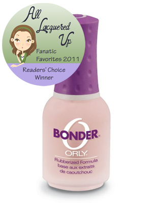 alu fanatic favorite base coat orly bonder All Lacquered Up Fanatic Favorites 2011   The Winners
