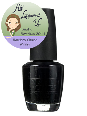 alu fanatic favorite black nail polish opi black onyx All Lacquered Up Fanatic Favorites 2011   The Winners