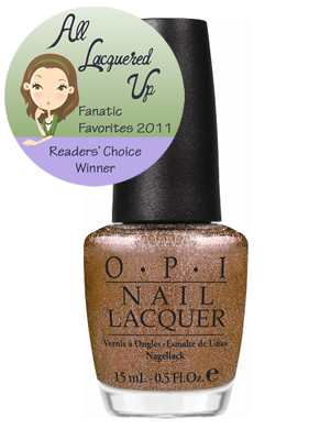 alu fanatic favorite brown amber rust opi warm fozzie All Lacquered Up Fanatic Favorites 2011   The Winners