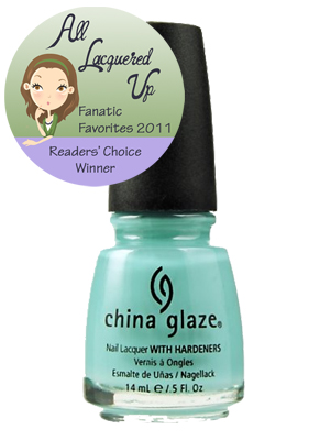 alu fanatic favorite creme aqua all time nail polish for audrey All Lacquered Up Fanatic Favorites 2011   The Winners