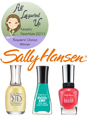 alu fanatic favorite drugstore mass nail polish brand sally hansen All Lacquered Up Fanatic Favorites 2011   The Winners