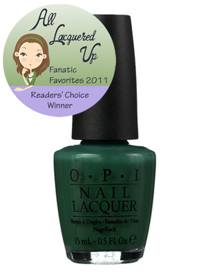 alu fanatic favorite green nail polish opi jade is the new black jitnb All Lacquered Up Fanatic Favorites 2011   The Winners