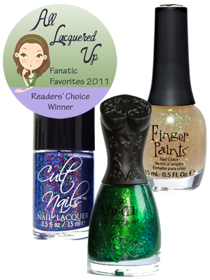 alu fanatic favorite nail trend flakies All Lacquered Up Fanatic Favorites 2011   The Winners