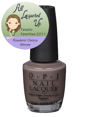 alu fanatic favorite neutral opi you dont know jacques All Lacquered Up Fanatic Favorites 2011   The Winners