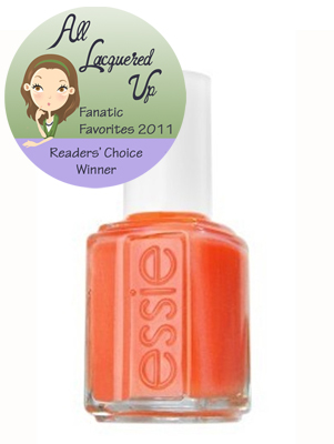 alu fanatic favorite orange nail polish essie brazilliant All Lacquered Up Fanatic Favorites 2011   The Winners