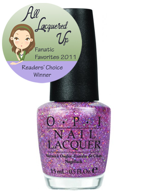 alu fanatic favorite pink nail polish opi teenage dream All Lacquered Up Fanatic Favorites 2011   The Winners