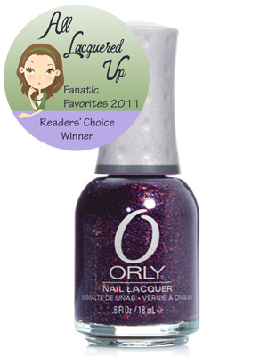 alu fanatic favorite purple nail polish orly fowl play All Lacquered Up Fanatic Favorites 2011   The Winners