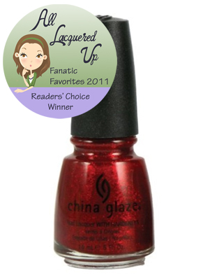 alu fanatic favorite red nail polish china glaze ruby pumps All Lacquered Up Fanatic Favorites 2011   The Winners