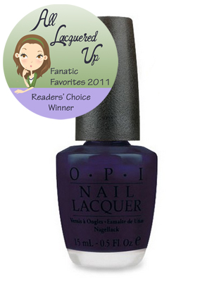 alu fanatic favorite shimmer blue nail polish opi russian navy All Lacquered Up Fanatic Favorites 2011   The Winners