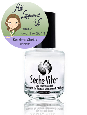 alu fanatic favorite top coat seche vite All Lacquered Up Fanatic Favorites 2011   The Winners