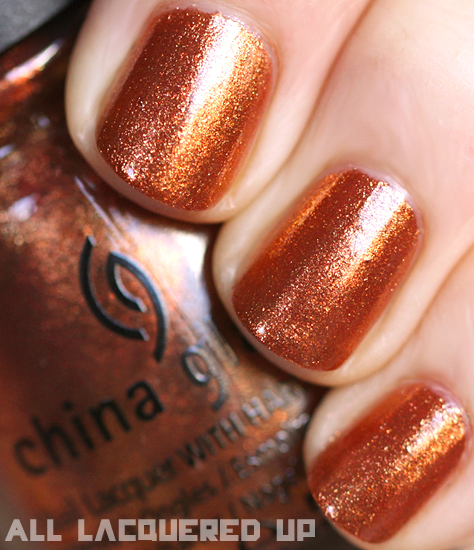 china glaze harvest moon nail polish swatch capitol colours hunger games China Glaze Capitol Colours   The Hunger Games Nail Polish Collection Swatches & Review