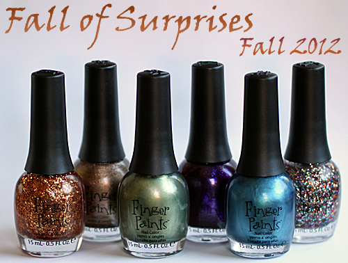 finger paints fingerpaints fall 2012 fall of surprises nail polish collection Finger Paints Fall of Surprises Fall 2012 Nail Polish Collection Swatches and Review