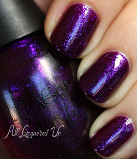 finger paints plum startled nail polish swatch fall 2012 surprises Finger Paints Fall of Surprises Fall 2012 Nail Polish Collection Swatches and Review