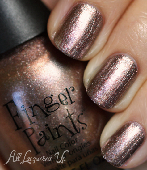 finger paints take it or leaf it nail polish swatch fall surprises 2012 Finger Paints Fall of Surprises Fall 2012 Nail Polish Collection Swatches and Review
