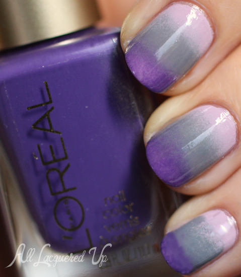 ombre gradient manicure nyfw mbfw loreal paris colour riche nail polish swatch nail art IM BACK and getting my Ombré on with LOréal
