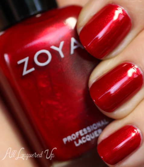 zoya elisa nail polish swatch fall 2012 diva