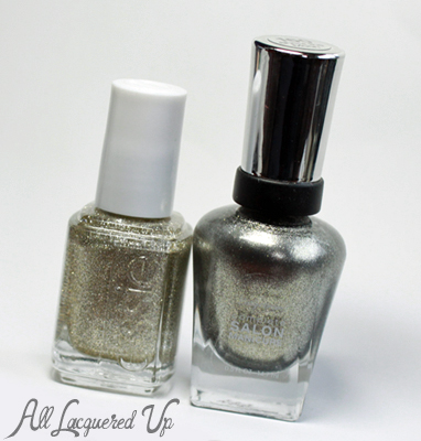 essie beyond cozy sally hansen shoot the moon nail polish bottle Mani Monday   Wedding Glitz with Essie and Sally Hansen