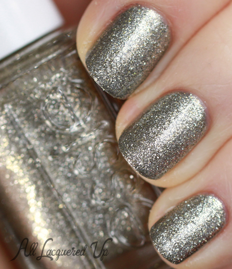 essie beyond cozy sally hansen shoot the moon nail polish swatch layering 2 Mani Monday   Wedding Glitz with Essie and Sally Hansen