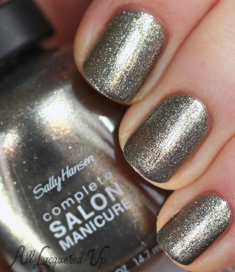 sally hansen shoot the moon nail polish swatch csm complete salon manicure Mani Monday   Wedding Glitz with Essie and Sally Hansen
