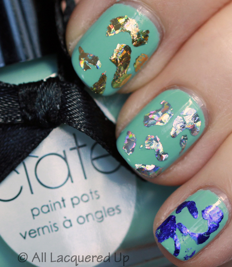 ciate very colourfoil manicure foil nail art nails Get Your Shine On with A Very Colourfoil Manicure from Ciaté