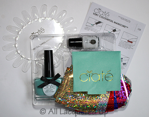 ciate very colourfoil manicure kit contents foil manicure nails nail art1 Get Your Shine On with A Very Colourfoil Manicure from Ciaté