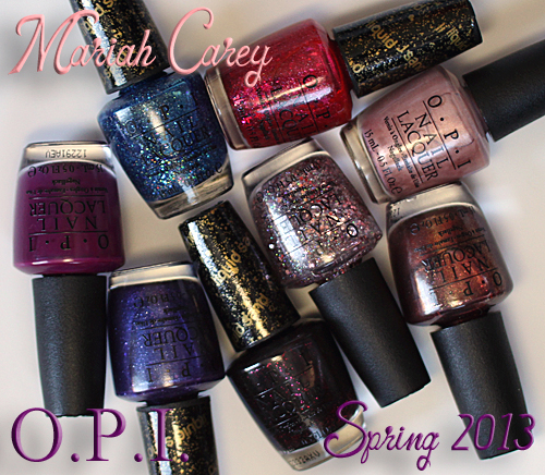 Mariah Carey for OPI Spring 2013 nail polish collection featuring Liquid Sand texture